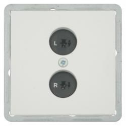 Lautsprecher-Steckdosen-Einsatz - Serie Format - SOLOGIC - N & L signalweiß - (7,58 Euro)
