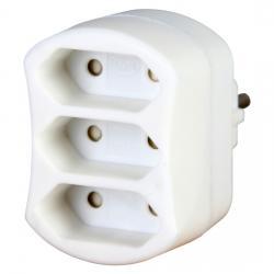Euro-Adapter - für 3 Europa-Stecker - KOPP arktis-weiß - (2,04 Euro)