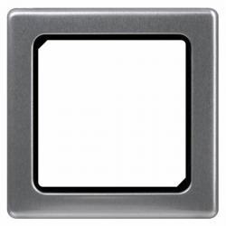 Zwischenrahmen für Normgeräte 50 x 50 mm - zu Serie Vision - KOPP stahlfarben (Metall-Oberfläche) - (6,19 Euro)