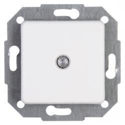 Taster-Wechsler mit N-Klemme beleuchtet mit Glimmlampe (Öffner/Schließer, mit N-Klemme) - zu Serie Europa - KOPP arktisweiß - (15,67 Euro)