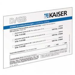 Schott-Kennzeichnungsschild - für Leitungs-/Rohr-Durch-/-Einführungen in Brandschutzwänden - KAISER 1 Stück - (1,63 Euro)