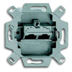 UAE-Datendosen-Einsatz - 2 Steckbuchsen - 8/8 (8/8) polig Kat. 5 geschirmt - BUSCH-JAEGER 2 Steckbuchsen - (23,76 Euro)