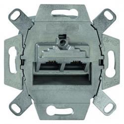 UAE-Datendosen-Einsatz - 2 Steckbuchsen - 8/8 (8/8) polig Kat. 6A iso geschirmt - BUSCH-JAEGER 2 Steckbuchsen - (33,29 Euro)