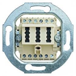 TAE-Telefon-Anschlußdosen-Einsatz - NF/F-Codierung - BUSCH-JAEGER TAE - 2x6/6 NFF - weiß (cremefarbenes elektroweiß) - (11,63 Euro)