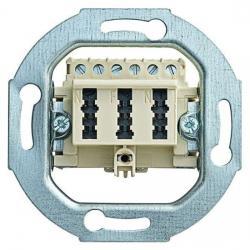 TAE-Telefon-Anschlußdosen-Einsatz - NFN-Codierung - BUSCH-JAEGER TAE - 3x6 NFN - weiß (cremefarbenes elektroweiß) - (11,63 Euro)