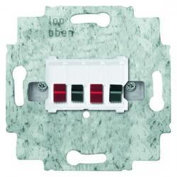 Stereo-Lautsprecher-Anschlussdose mit Schnellsteckklemmen - BUSCH-JAEGER