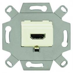 HDMI-Anschlussdose-Einsatz - BUSCH-JAEGER weiß (cremefarbenes elektroweiß) - (132,83 Euro)