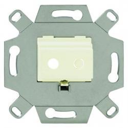 Kommunikationsadapter für Mini-Klinken-Buchsen - BUSCH-JAEGER weiß (cremefarbenes elektroweiß) - (9,22 Euro)