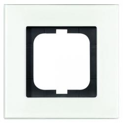 1-fach - Abdeckrahmen - Serie Carat / Carat-Flat - BUSCH-JAEGER weißglas - (33,40 Euro)