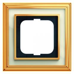 1-fach - Abdeckrahmen - Messing poliert - Serie Busch-Dynasty - BUSCH-JAEGER Messing poliert / elfenbeinweiß - (36,14 Euro)