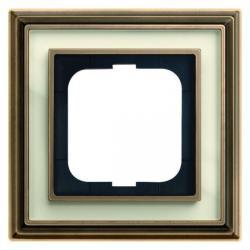 1-fach - Abdeckrahmen - Messing antik - Serie Busch-Dynasty - BUSCH-JAEGER Messing antik / elfenbeinweiß - (36,14 Euro)