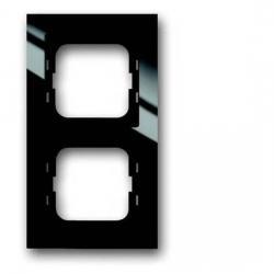 2-fach - Abdeckrahmen - Serie Busch-Axcent-Flat - BUSCH-JAEGER schwarz - (16,66 Euro)