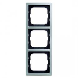 3-fach - Abdeckrahmen - Serie Pur Edelstahl - BUSCH-JAEGER Edelstahl (Metall-Oberfläche) - (42,08 Euro)