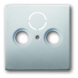 Zentralscheibe für 2- oder 3-fach Antennendosen-Einsatz - Serie Pur Edelstahl - BUSCH-JAEGER Edelstahl (Metall-Oberfläche) - (15,18 Euro)