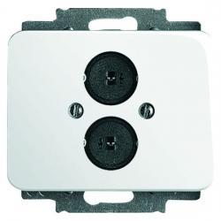 Lautsprecher-Steckverbinder-Einsatz mit Zentralscheibe - Serie Alpha - BUSCH-JAEGER studioweiß hochglanz - (19,11 Euro)