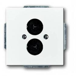 Lautsprecher-Steckverbinder-Einsatz mit Zentralscheibe - Serie Carat - BUSCH-JAEGER studioweiß - (18,19 Euro)