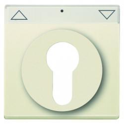 Zentralscheibe für Halbzylinder-Schlüssel-Aus-/Jalousie-Schalter/Taster - Serie Busch-Dynasty - BUSCH-JAEGER elfenbeinweiß - (12,65 Euro)