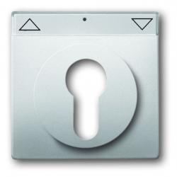 Zentralscheibe für Halbzylinder-Schlüssel-Aus-/Jalousie-Schalter/Taster - Serie Pur Edelstahl - BUSCH-JAEGER edelstahl (Kunststoff lackiert) - (23,64 Euro)