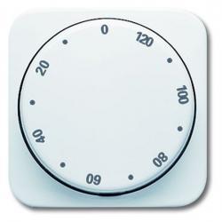 Zentralscheibe für Drehbetätigungs-Zeitschaltuhr-Einsatz - mit 120 Minuten Laufzeit - Reflex SI/SI Linear - BUSCH-JAEGER alpinweiß (helles reinweiß) - (7,26 Euro)