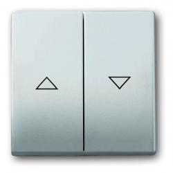 Flächen-Doppelwippe mit Pfeilsymbolen - Serie Pur Edelstahl - BUSCH-JAEGER Edelstahl (Metall-Oberfläche) - (18,57 Euro)