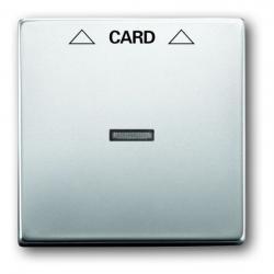 Zentralscheibe für Cardschalter-Einsatz - Serie Pur Edelstahl - BUSCH-JAEGER Edelstahl (Metall-Oberfläche) - (59,84 Euro)