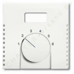 Zentralscheibe für Temperaturanzeige-Raumtemperaturregler-Einsatz - ohne Schalter - Future / Future Linear - BUSCH-JAEGER studioweiß - (8,44 Euro)