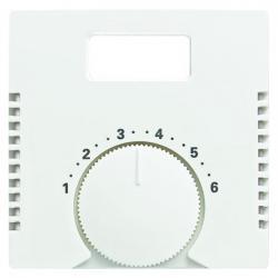 Zentralscheibe für Temperaturanzeige-Raumtemperaturregler-Einsatz - ohne Schalter - Busch-Balance SI - BUSCH-JAEGER alpinweiß (helles reinweiß) - (5,76 Euro)