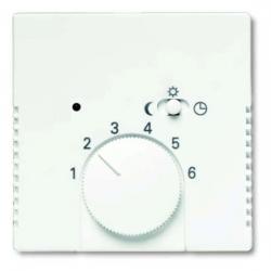 Zentralscheibe für Raumtemperaturregler-Einsatz - mit Schalter Nachtabsenkung - Carat - BUSCH-JAEGER studioweiß - (10,38 Euro)