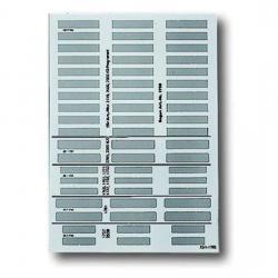 DIN A4 - Beschriftungsbogen - Kunststofffolie für alle beschriftbare Geräte - BUSCH-JAEGER 1 Stück = 1 Bogen - transluzent (halbtransparentes weiß) - (14,09 Euro)