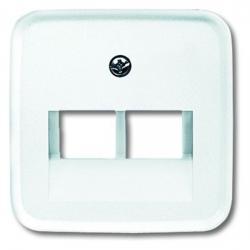 Zentralscheibe für 2-fach - UAE-Datendosen-Einsatz - Serie Reflex SI/SI Linear - BUSCH-JAEGER alpinweiß (helles reinweiß) - (4,80 Euro)