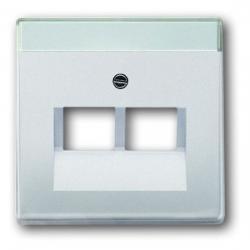 Zentralscheibe für 2-fach - UAE-Datendosen-Einsatz - Serie Pur Edelstahl - BUSCH-JAEGER Edelstahl (Metall-Oberfläche) - (20,17 Euro)