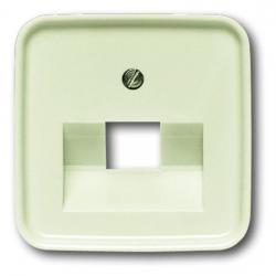 Zentralscheibe für 1-fach - UAE-Datendosen-Einsatz - Serie Busch-Duro 2000 SI/SI Linear - BUSCH-JAEGER weiß (cremefarbenes elektroweiß) - (5,02 Euro)