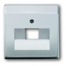 Zentralscheibe für 1-fach - UAE-Datendosen-Einsatz - Serie Pur Edelstahl - BUSCH-JAEGER Edelstahl (Metall-Oberfläche) - (18,53 Euro)