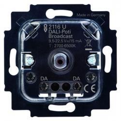 DALI-Potenziometer-Einsatz - für tunable white - ohne eigene Stromversorgung - BUSCH-JAEGER mit Drehbetätigung und Druck-AUS-Taster - (58,89 Euro)