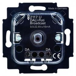 DALI-Potenziometer-Einsatz - ohne eigene Stromversorgung - BUSCH-JAEGER mit Drehbetätigung und Druck-AUS-Taster - (51,41 Euro)