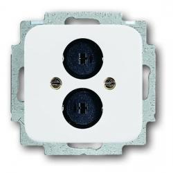 Lautsprecher-Steckverbinder-Einsatz mit Zentralscheibe - Serie Reflex SI/SI Linear - BUSCH-JAEGER alpinweiß (helles reinweiß) - (14,35 Euro)