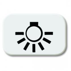 Wechsel-Symbol für offene Flächenwippen - mit Aufdruck - Serie Busch-Balance SI - BUSCH-JAEGER mit Aufdruck - Licht - alpinweiß (helles reinweiß) - (0,99 Euro)