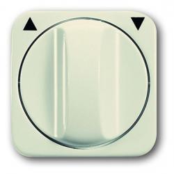 Zentralscheibe für Drehgriff-Jalousie-Schalter/Taster-Einsatz - Busch-Duro 2000 SI/SI Linear - BUSCH-JAEGER weiß (cremefarbenes elektroweiß) - (6,74 Euro)