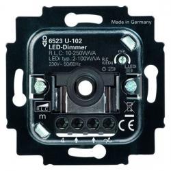 Universal-Druck-/Drehdimmer-Einsatz für LED-Leuchtmittel - 2-100 W/VA - BUSCH-JAEGER 2-100 W/VA - (77,21 Euro)