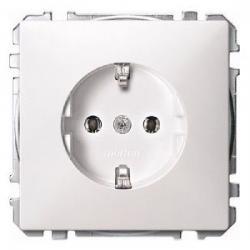 Steckdosen-Einsatz mit Schraubklemmen - System Fläche - MERTEN polarweiß (Thermoplast glänzend) - (5,83 Euro)