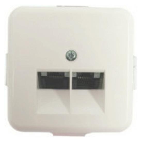 UAE / ISDN - Netzwerkanschlussdose Kat. 5 geschirmt - Serie FL-Vario - REV-RITTER ohne Abdeckrahmen - weiß - (22,81 Euro)