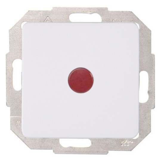 Kontrollschalter (A/W) mit Glimmlampe - Serie Milano - KOPP arktis-weiß - (Sonderfarbton) - (12,63 Euro)