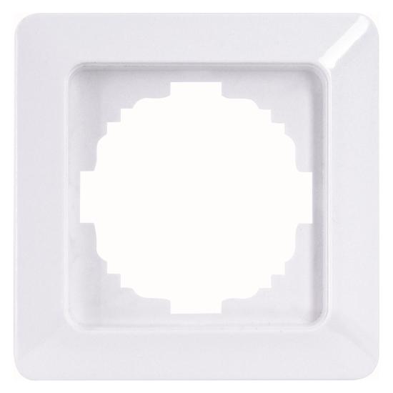 1-fach - Abdeckrahmen - Serie Milano - KOPP arktis-weiß - (Sonderfarbton) - (1,76 Euro)